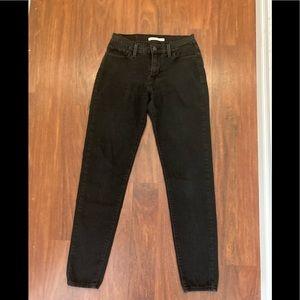 3/20 Levi's 710 super skinny black jeans 29 x 30